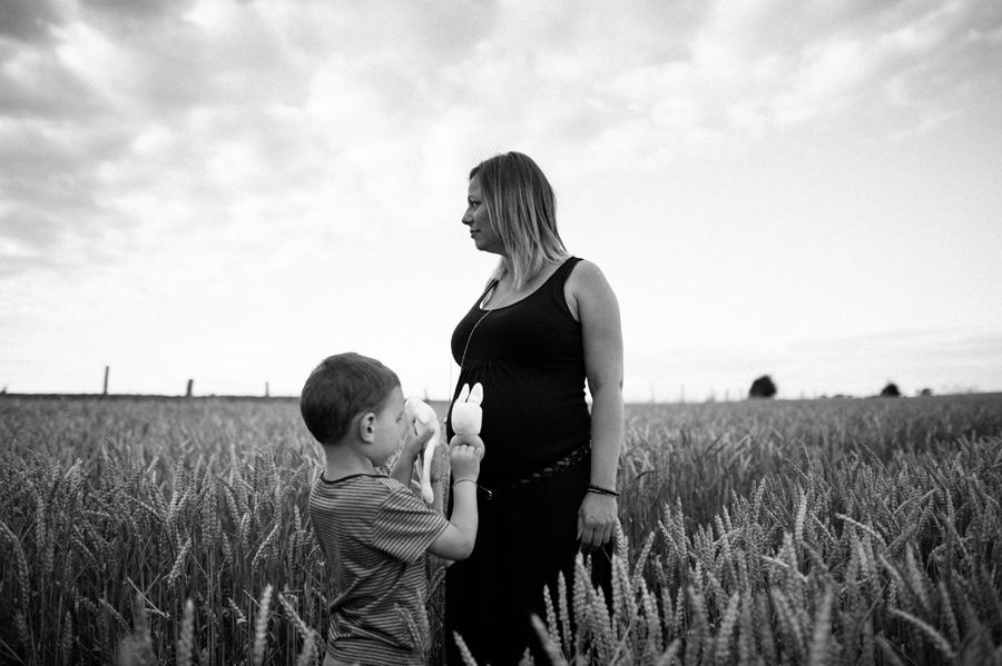 séance grossesse mère/fils