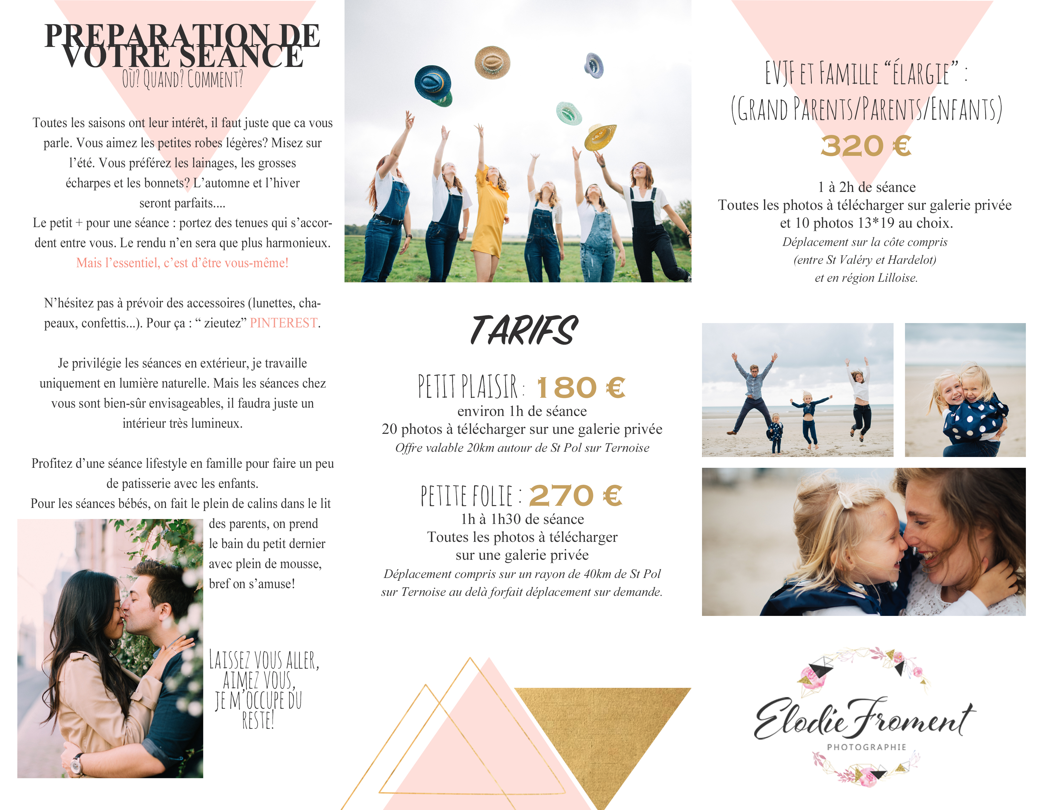 Tarifs Elodie Froment Photographie